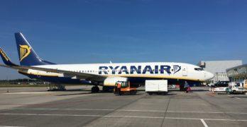 Ryanair vliegtuig